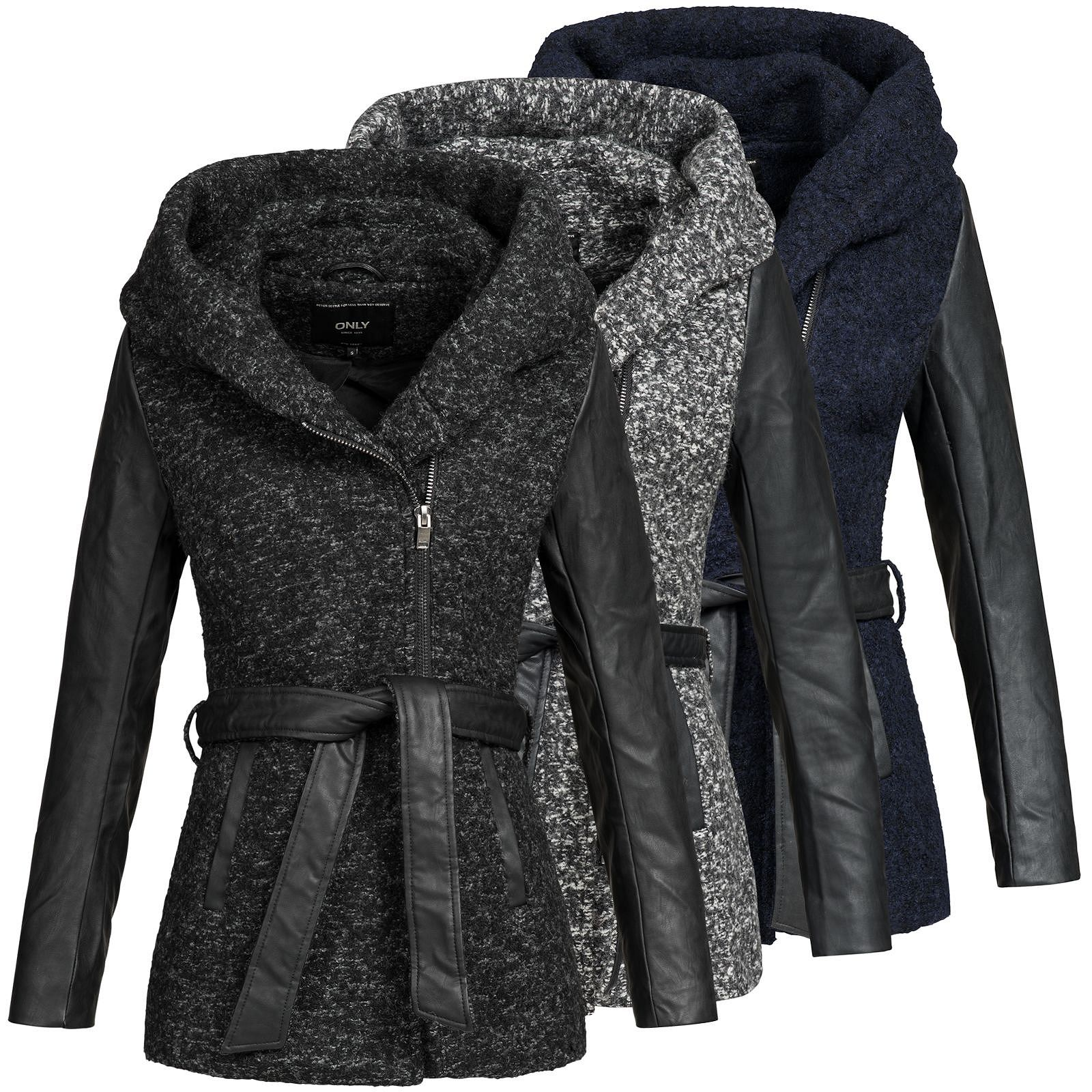 look out for uk store clearance prices Details zu Only Damen Mantel Jacke Parka Übergangsjacke Kurzmantel  Wollmantel Lisford