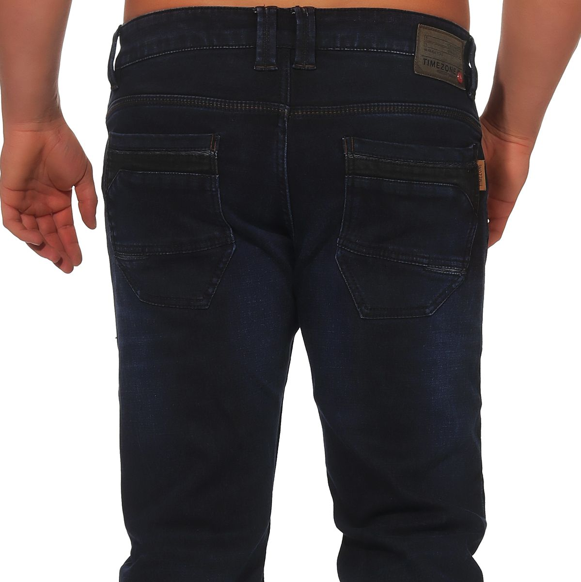 Timezone Herren Jeans Hose Herrenhose Jeanshose Denim Slim Ryan blue black wash