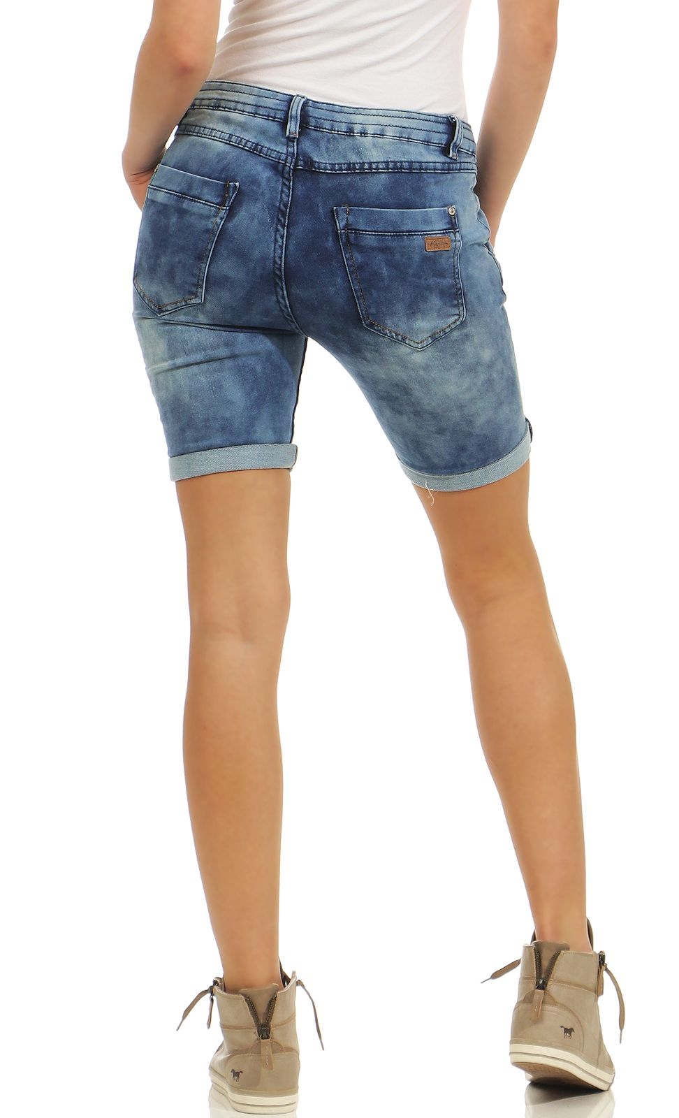 e9a420a28feca4 Damen Shorts Jeans Jeansoptik Sweat Denim kurze Hose Urban Surface ...