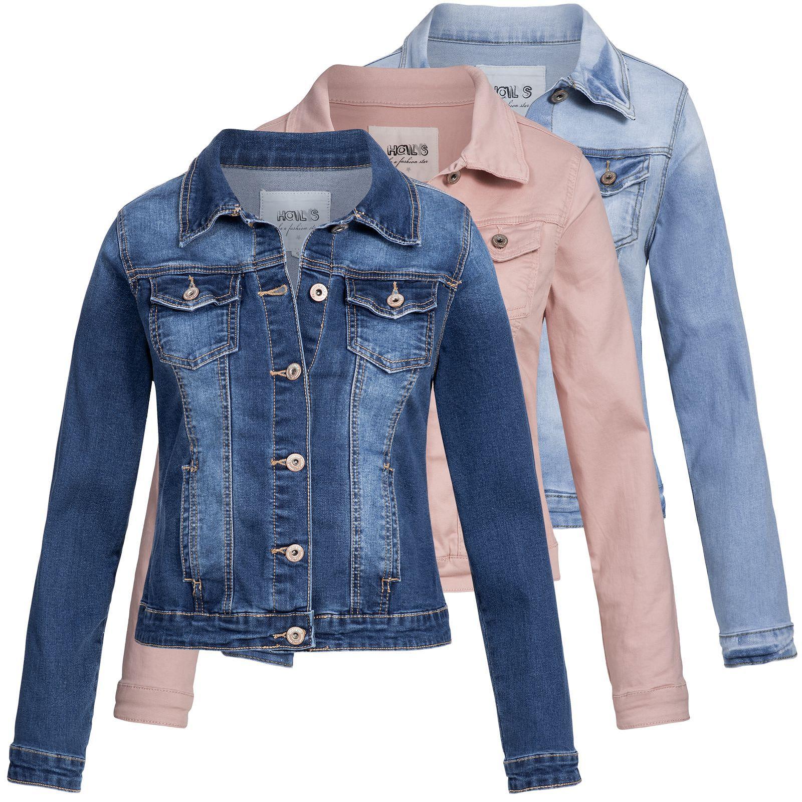 detailing b61bd a0c8d Details zu Damen Jeansjacke Jacke Denim Übergangsjacke Damenjacke Hailys  Enny