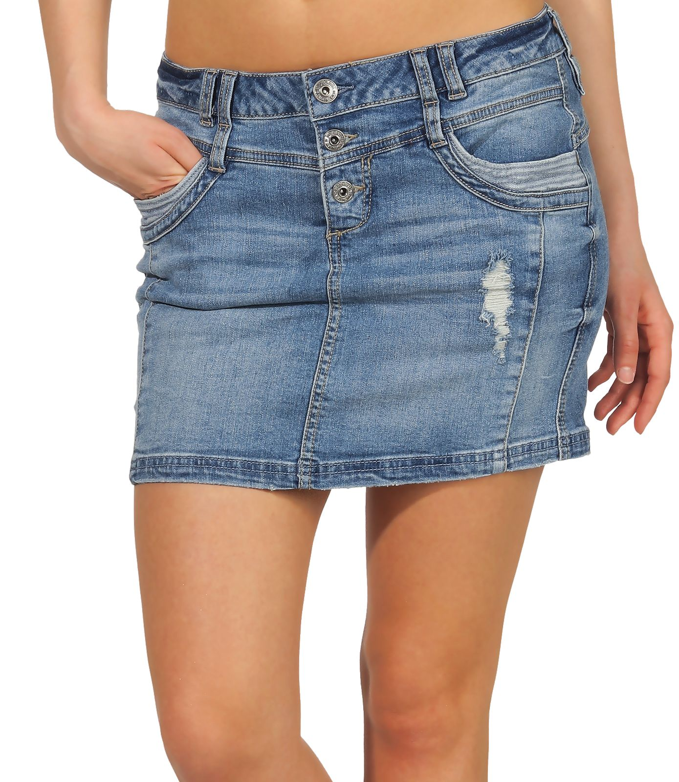 Only Damen Jeansrock Bleistiftrock Stretch Denim Kurz Minirock Damenrock SALE /%