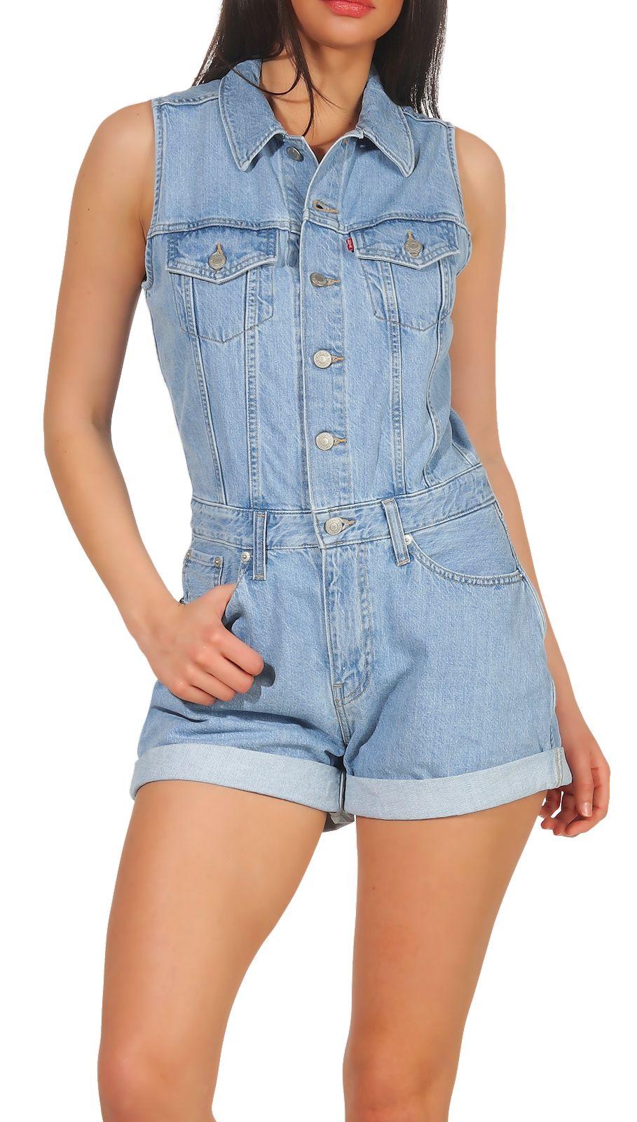 purchase cheap 8e060 ac454 Details zu Levi`s Damen Jeans Overall Jumpsuit Playsuit Latzhose Einteiler  Denim Hose 67682