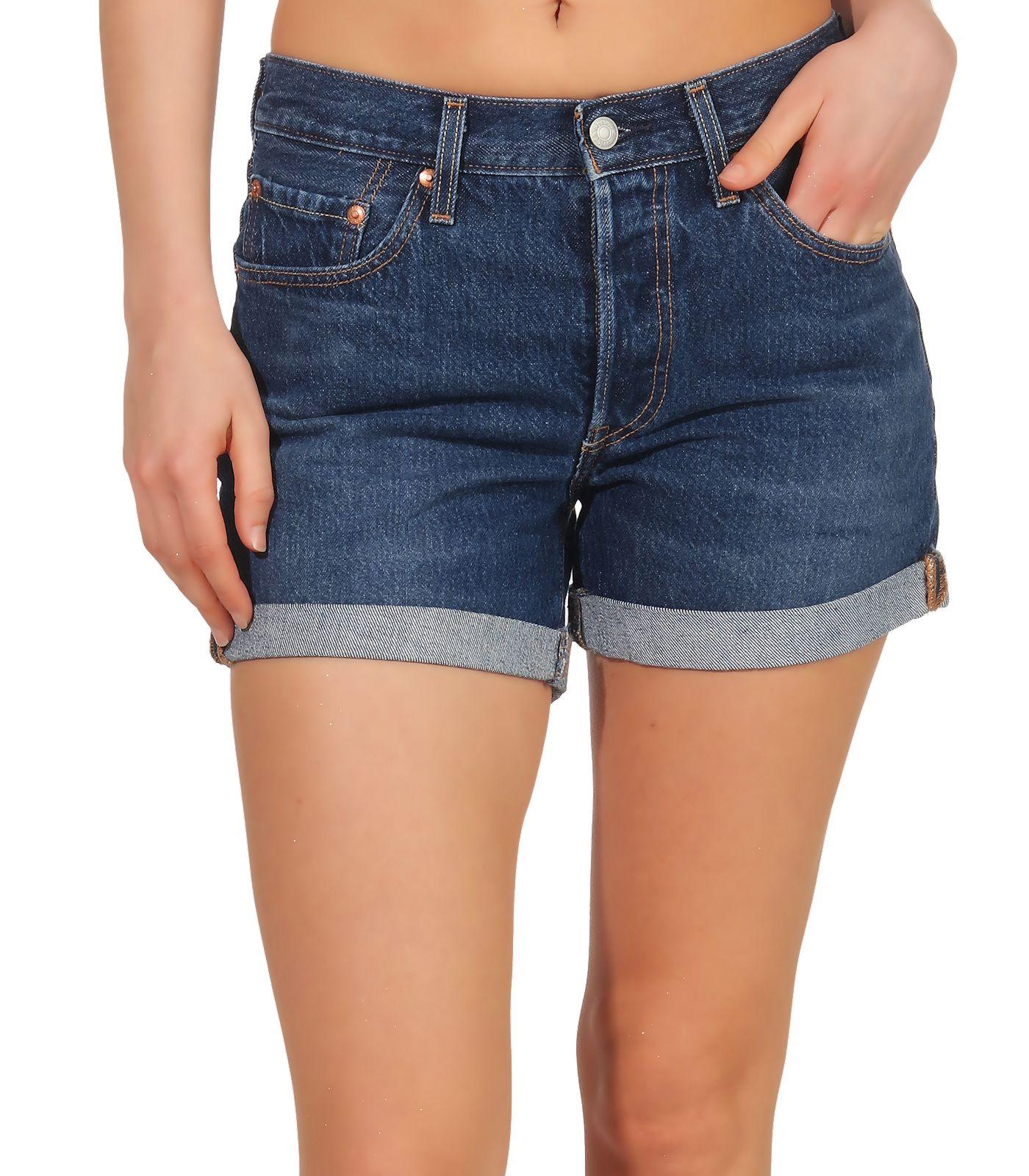 Details zu Levi`s Damen Jeans Shorts Damenhose Hotpants kurze Hose Bermuda Denim 501 29961