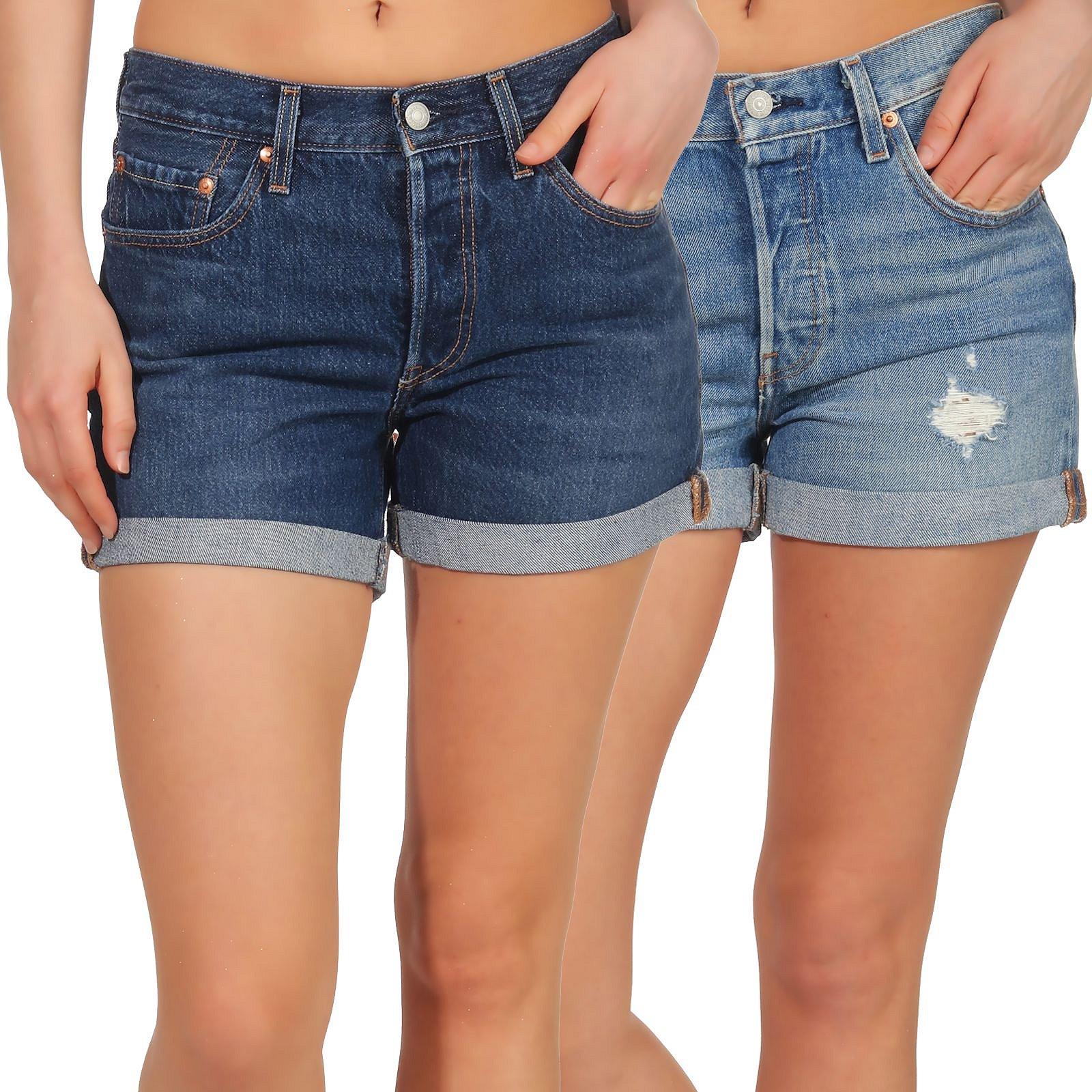 Levi`s Shorts Denim Damenhose Hose Damen Details Kurze Bermuda Hotpants Zu 29961 Jeans 501 FK1lJ5ucT3