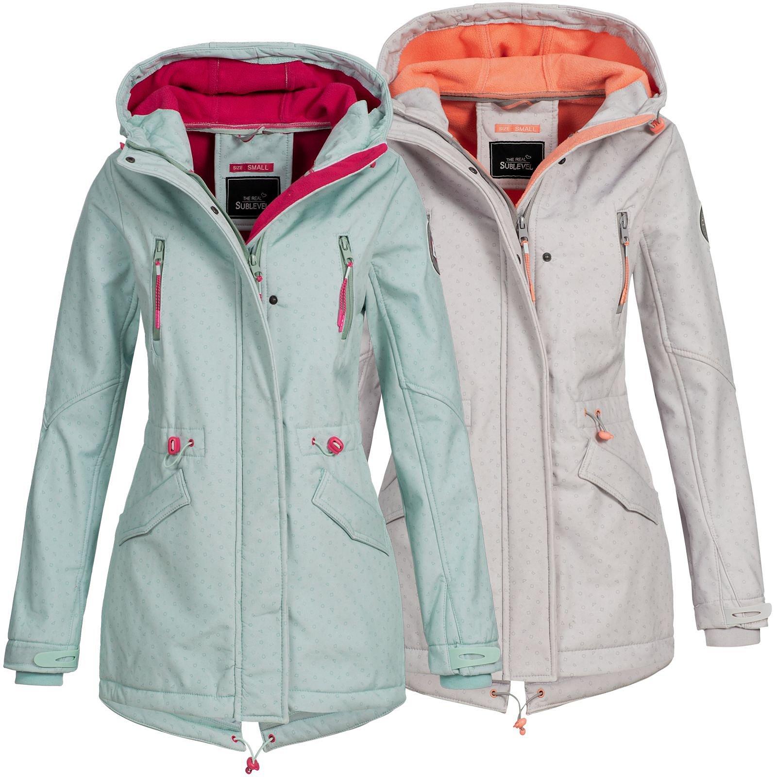 Details zu Sublevel Damen Jacke Softshelljacke Mantel Outdoor Damenjacke Parka LSL 368