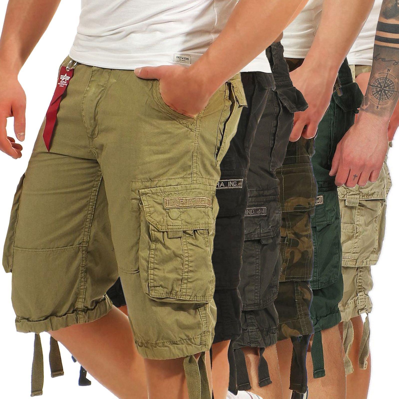 Details about Alpha Industries Men's Cargo Shorts JET Short Trousers Bermuda Men Short 191200 show original title
