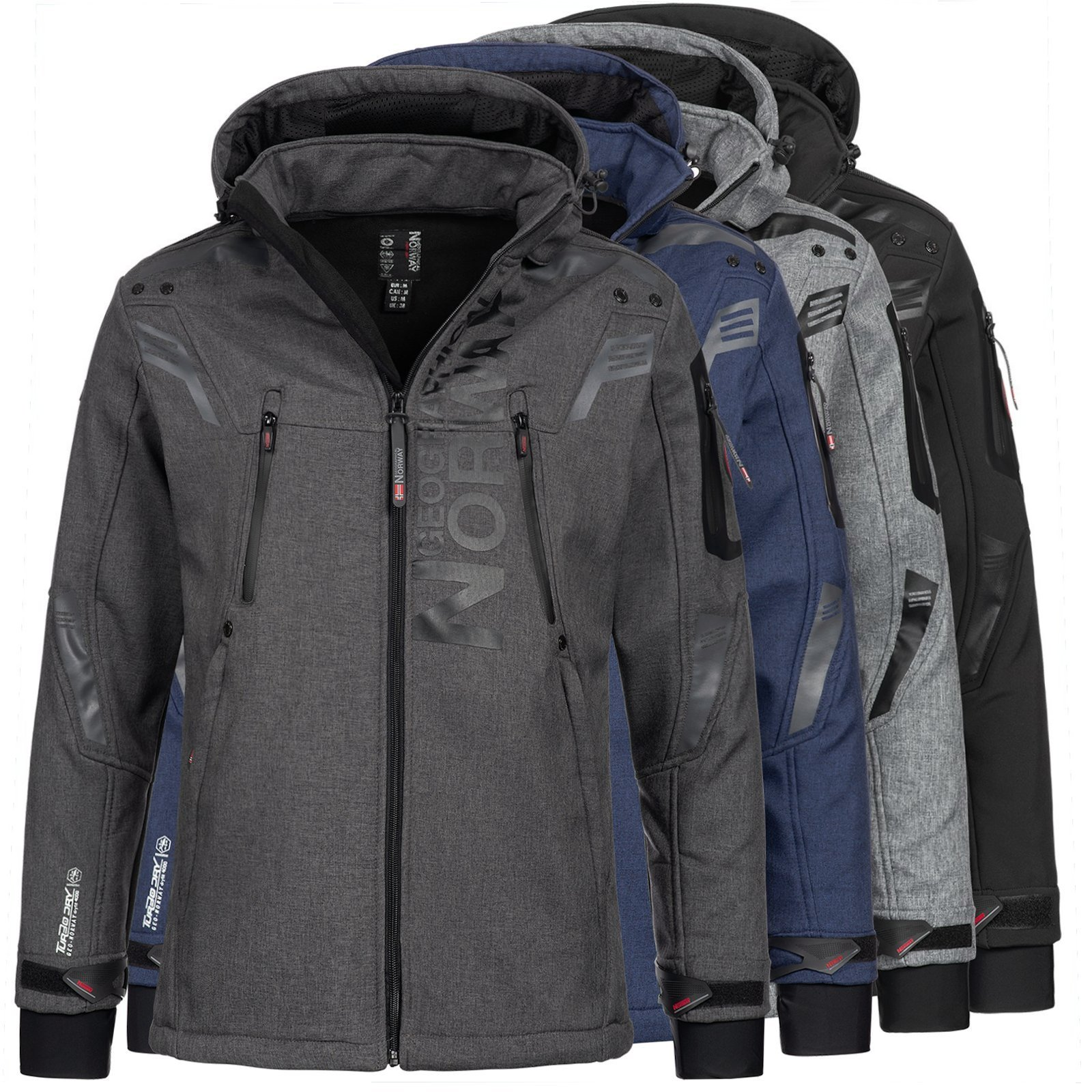 Details about Geographical Norway Men's Jacket Softshell Jacket Outdoor Rain Jacket Talentueux show original title