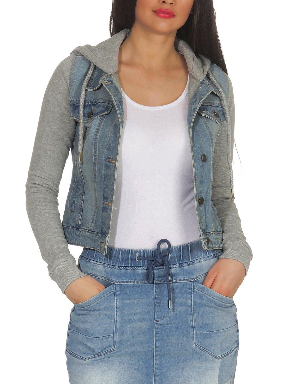 Details about Womens Transition Jacket Jeans Jacket Jeans Jacket Womens Jacket 2 in 1 Denim Hailys Cora show original title