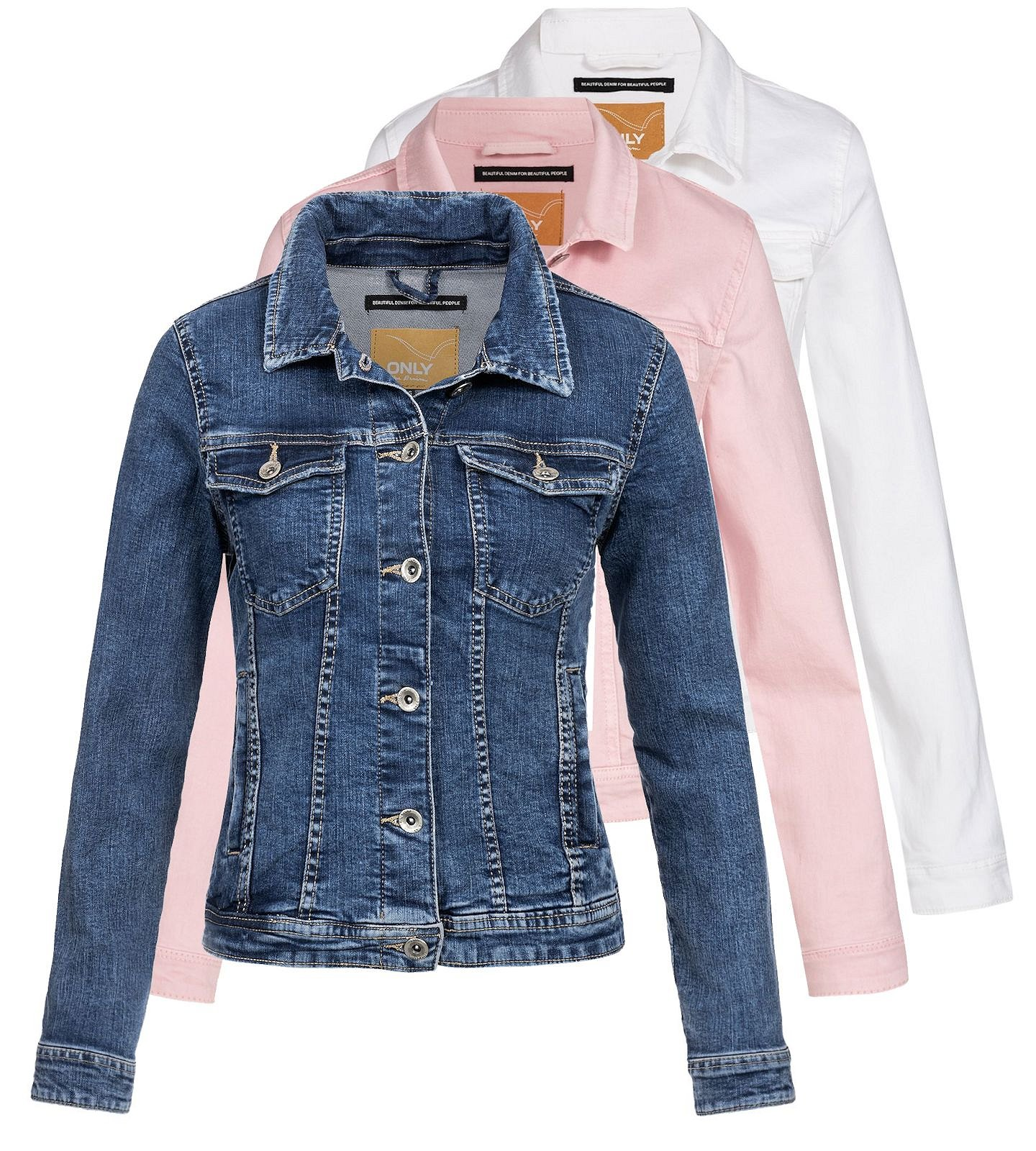 the latest c8d12 9e8fe Details zu Only Damen Jeansjacke Jacke Damenjacke Denim Übergangsjacke  Jeans Tia