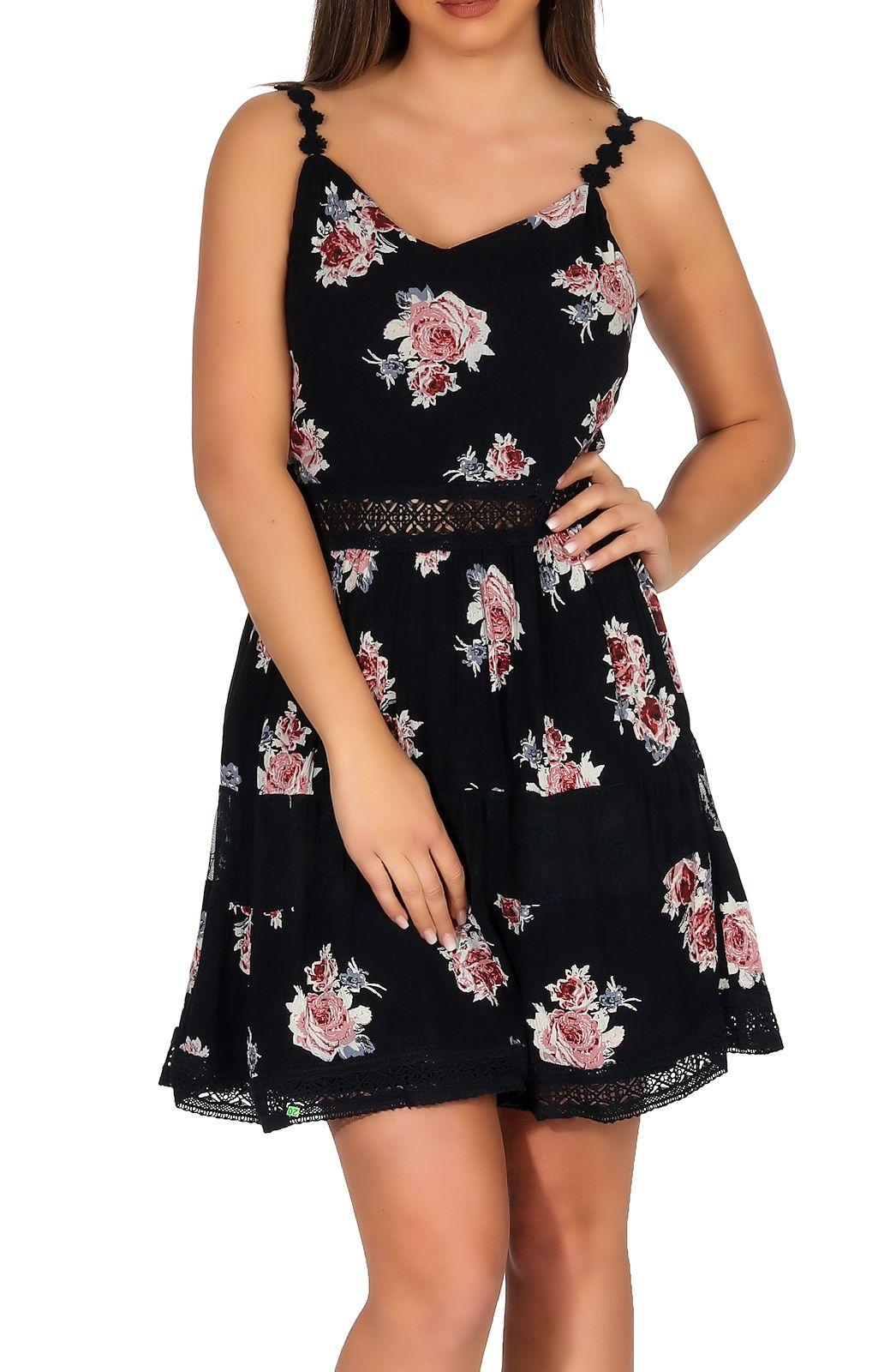 Kleider Kleidung Accessoires Only Damen Kleid Minikleid Tragerkleid Sommerkleid V Ausschnitt Karmen Anne