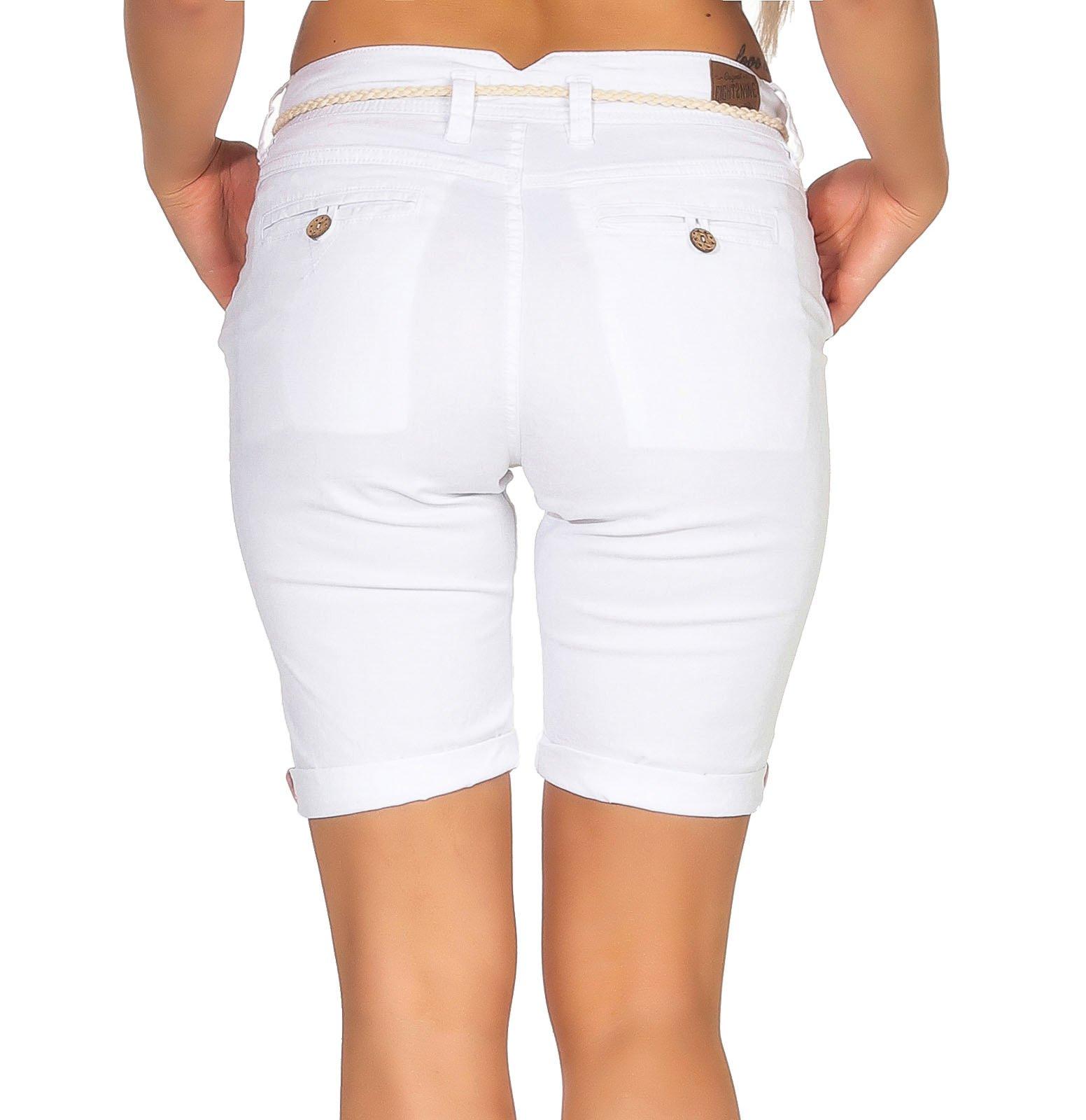 Damen Shorts Damenshorts Damenhose Hose Bermuda Sommershorts Eight2Nine LETN-025