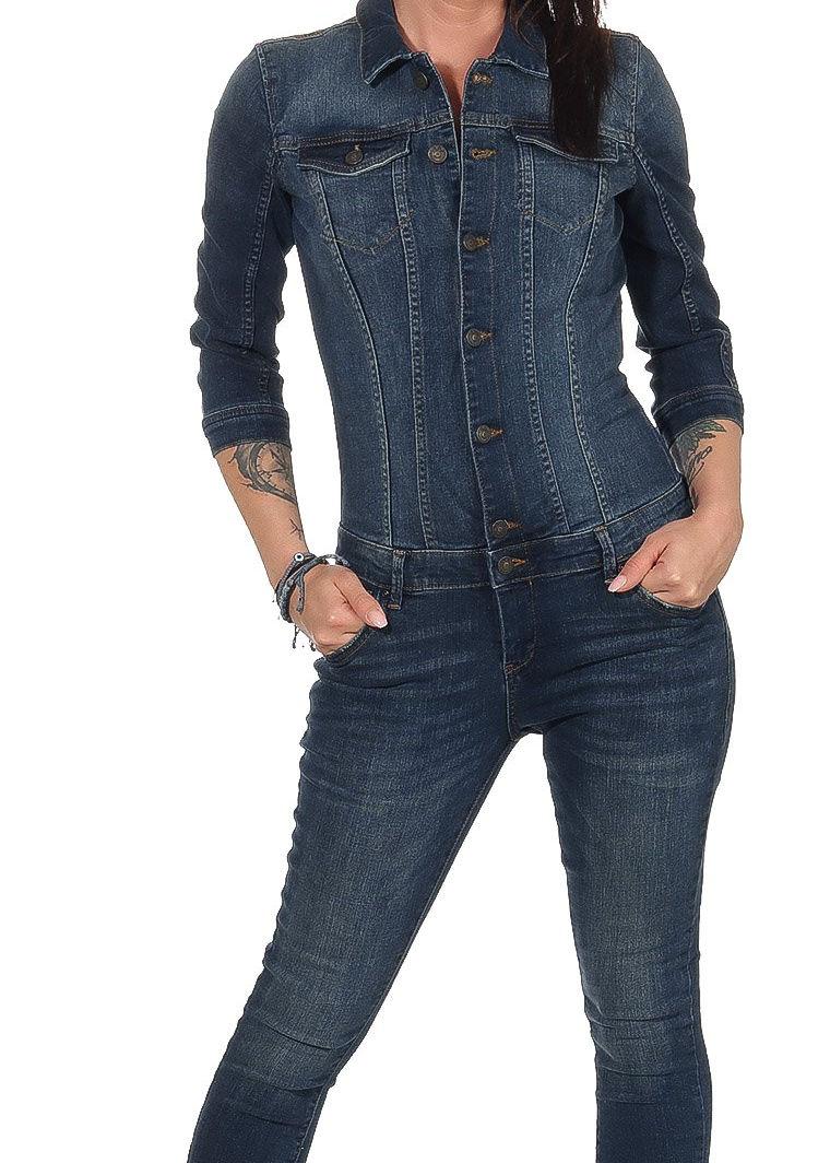 buy popular 497ff 8f625 Details zu Only Damen Overall Jumpsuit Einteiler Jeans Anzug Catsuit Denim  Julia