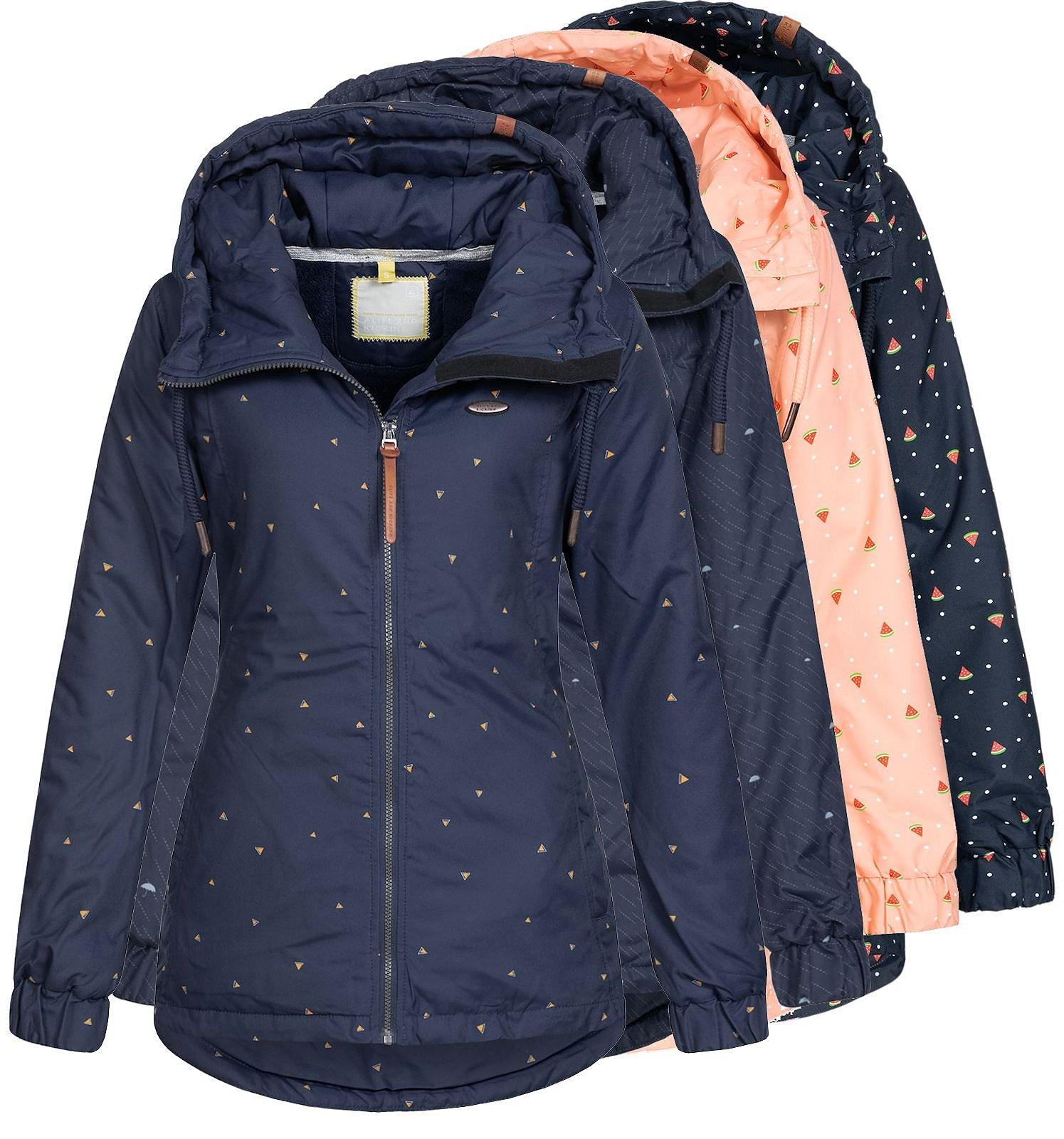 Details zu Damen Jacke Übergangsjacke Damenjacke Kapuze Parka Mantel Alife and Kickin Lilou