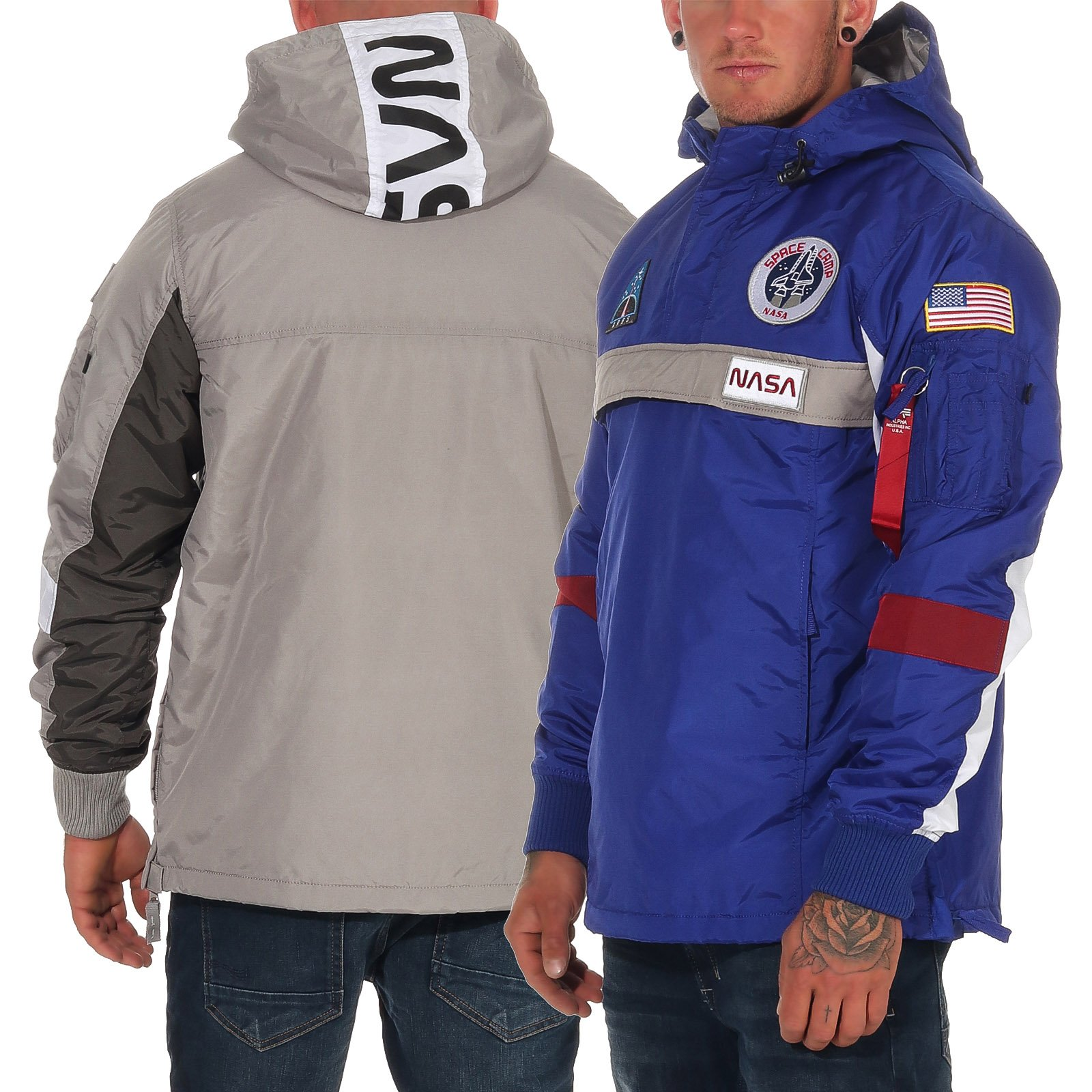 Details Übergangsjacke Jacke NASA zu Alpha Herren