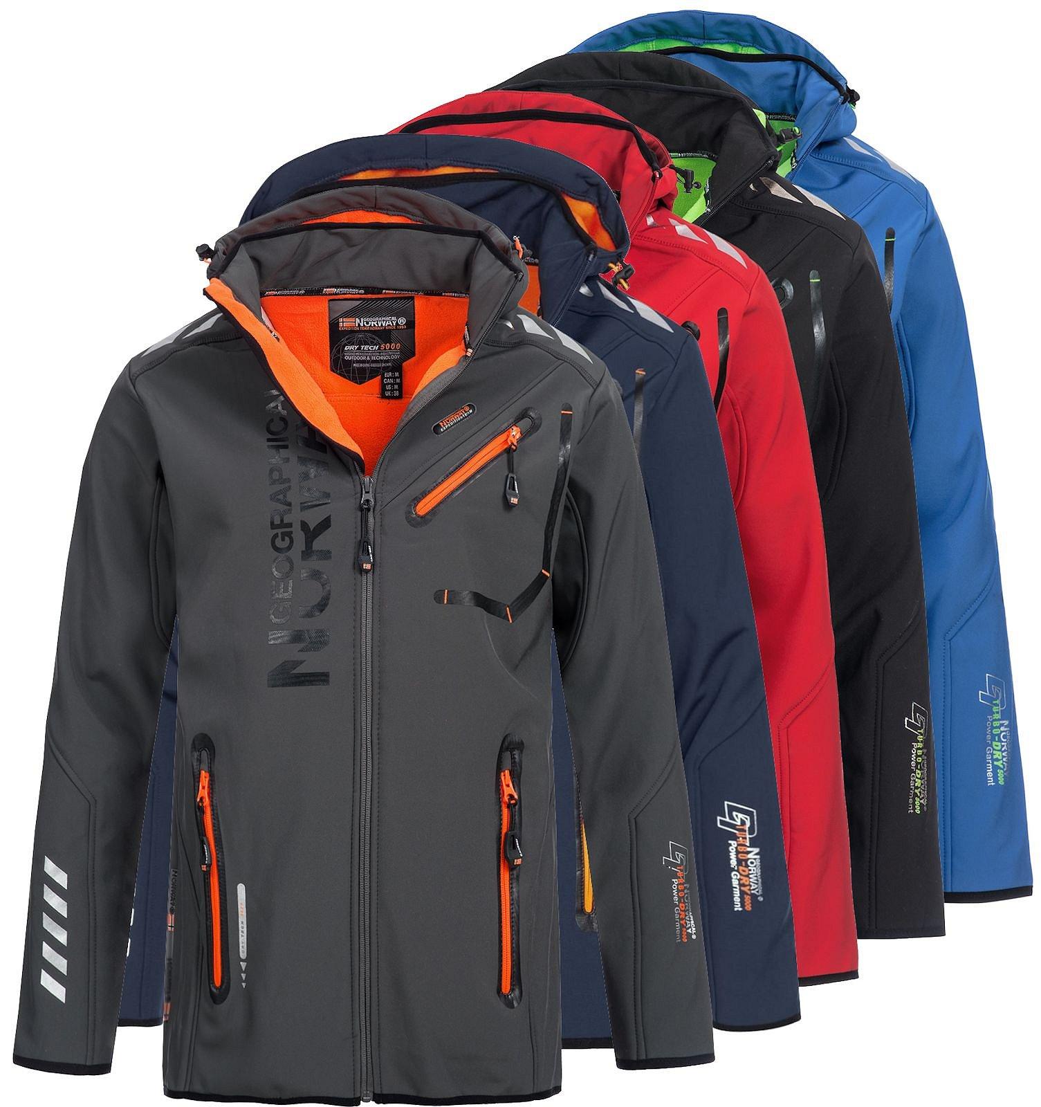 Details about Geographical Norway Mens softshell Jacket Rainman Transition Jacket Jacket Wind Jacket show original title