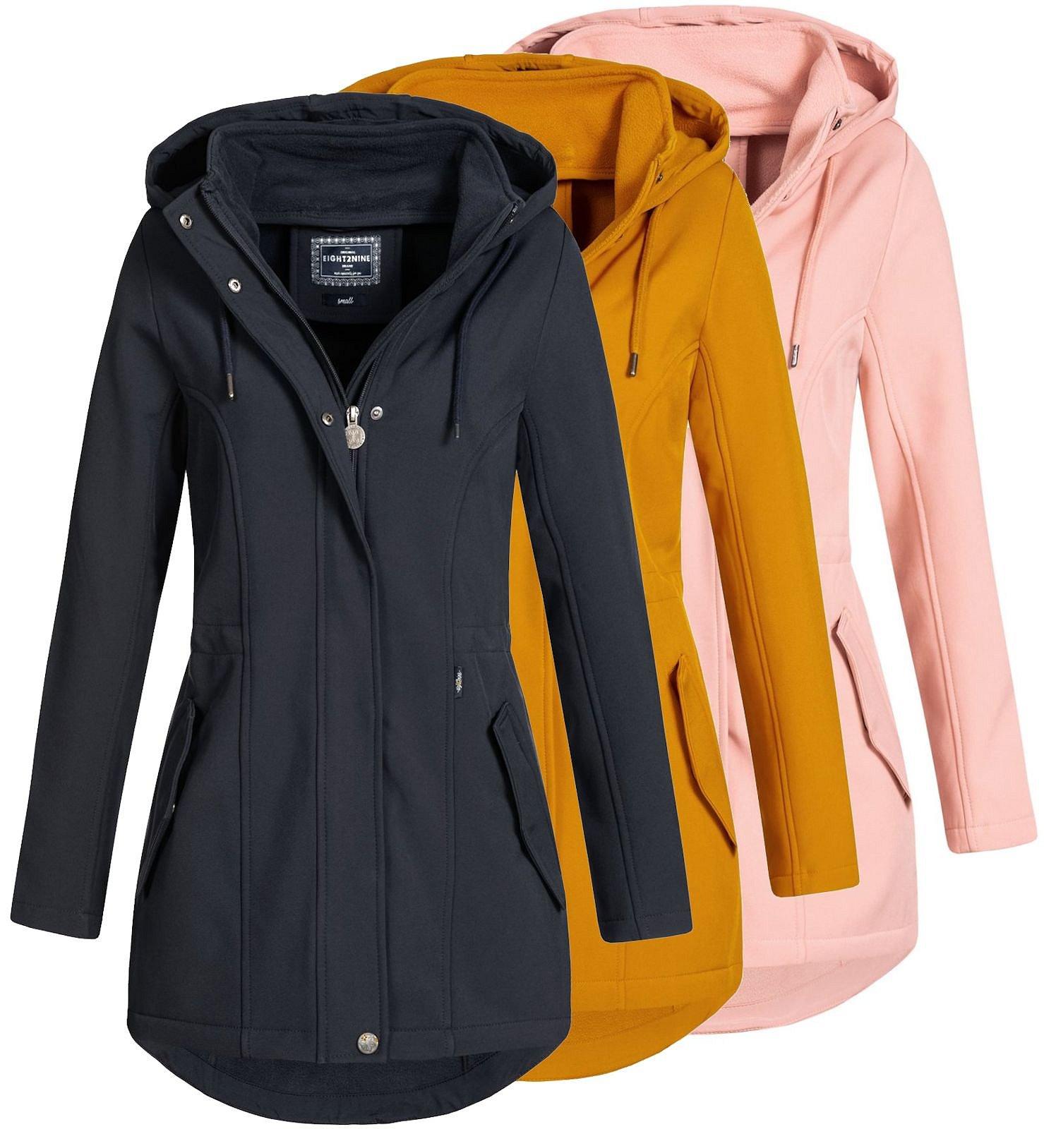 Details zu Damen Jacke Softshelljacke Übergangsjacke Damenjacke Parka Eight2Nine LETN 041