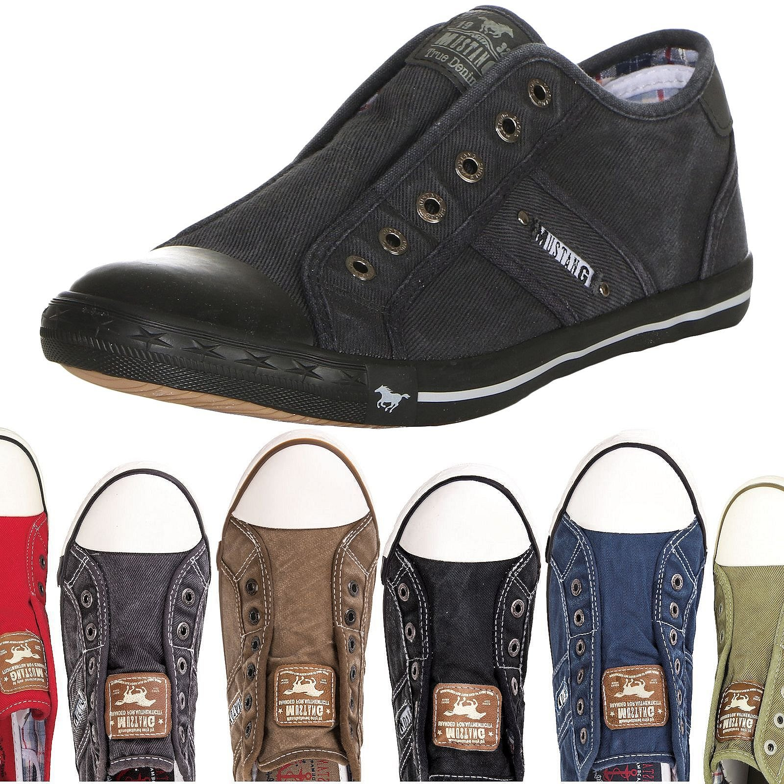 NEU Mustang Herrenschuhe Schuhe Canvas Sneaker Herrensneaker Slipper Halbschuhe
