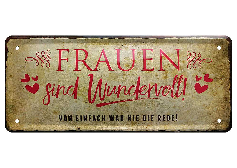 Blechschild lustige Sprüche Schild Spruch Deko Wein Lebensphilosophie 28x12cm
