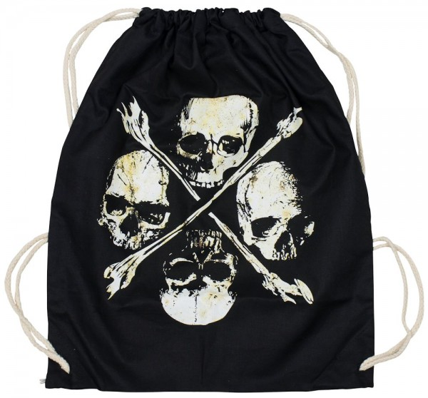 Top Fuel Fashion Rucksackbeutel Four Skulls