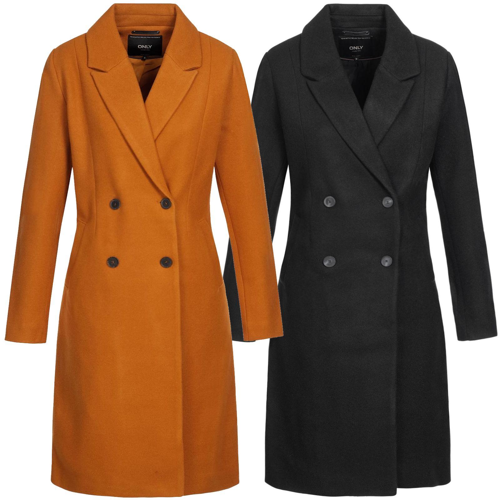 big sale bdaf0 bff98 Only Damen Wollmantel Louisa Wool Coat