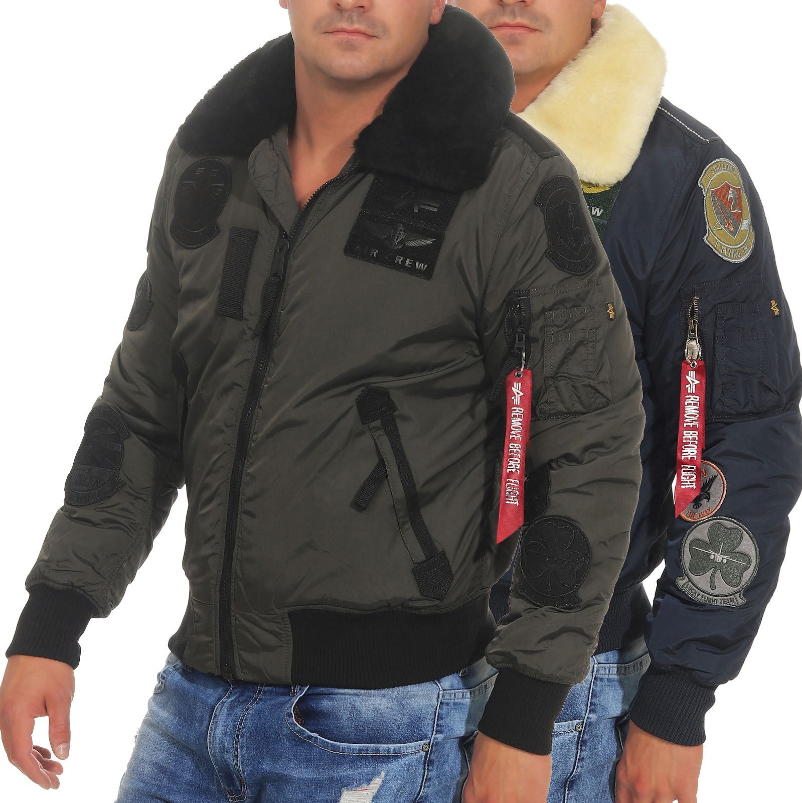 Alpha Industries Herren Bomberjacke Injector III Patch 168128
