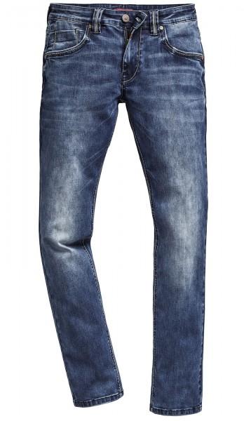 Timezone Herren Jeans 27-10002 Eduardo white aged wash Slim