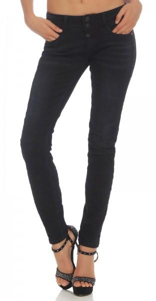 Timezone Damen Jeans 17-10025 Enya Slim black diamond wash