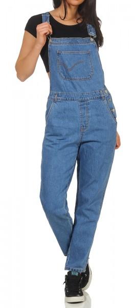 Only Damen Jeans Overall Karlie medium blue denim