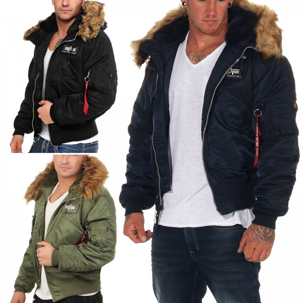 Alpha Industries Herren Bomberjacke 45P Hooded 144103
