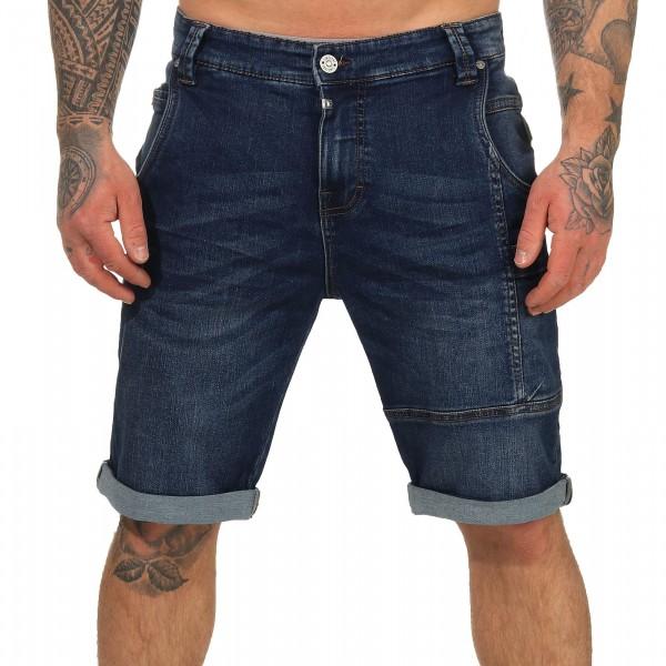 Timezone Herren Jeans Shorts 25-10020 Stuad used sea blue wash