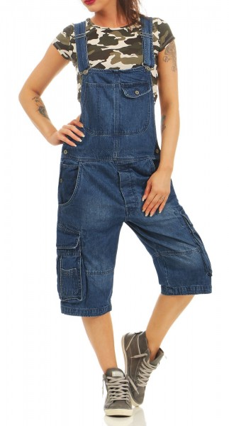 new arrival 24ab4 ba2da Jet Lag Damen Jeans Overall A Shorts navy