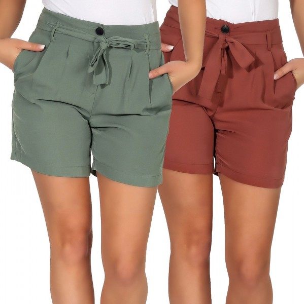 Vero Moda Damen Paperbag Shorts Selina