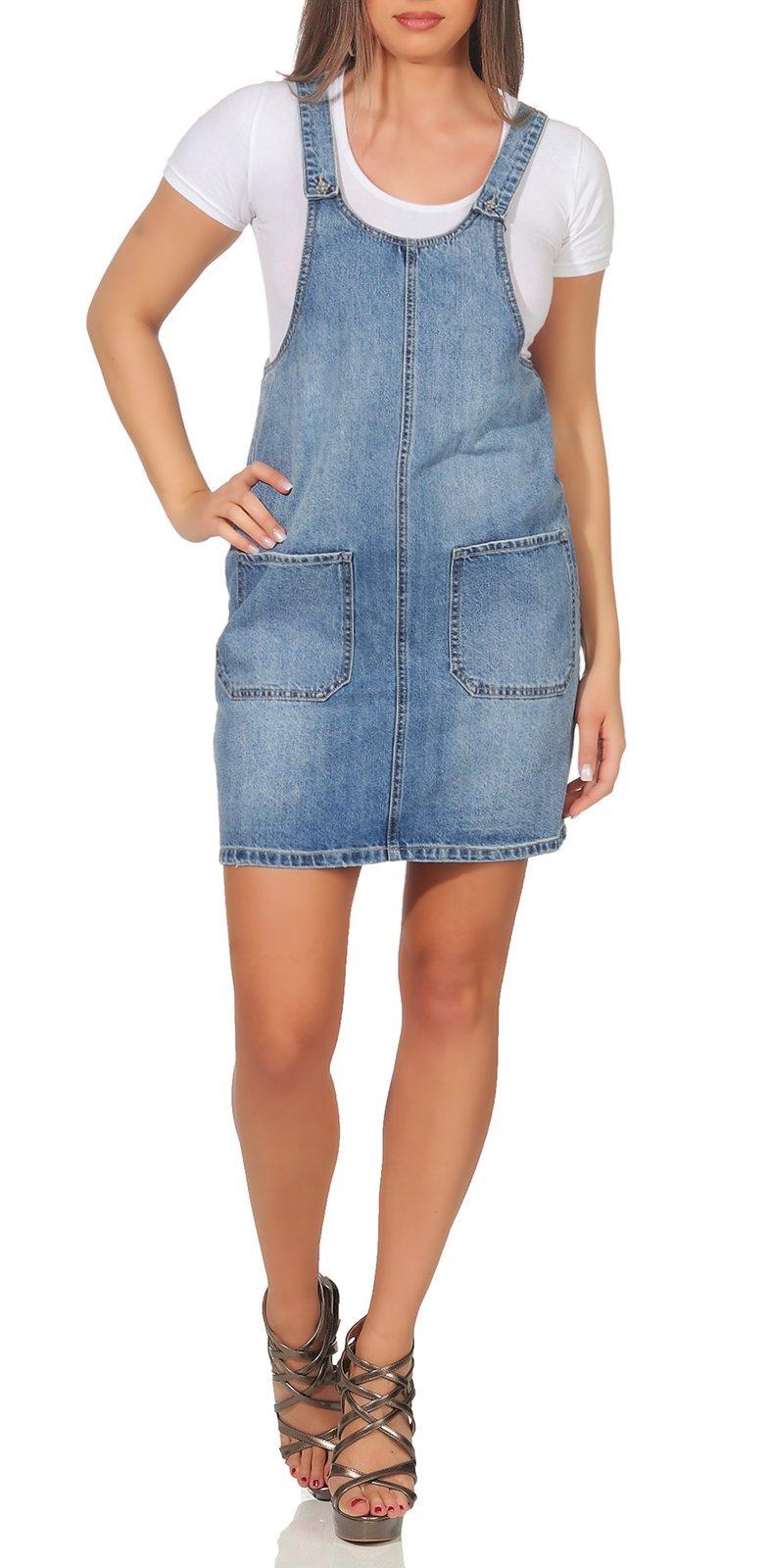 Vero Moda Damen Jeans Kleid Kali Pinafort | Röcke/ Kleider ...