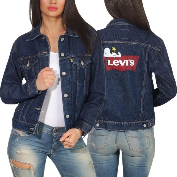 buy online 5ab6c 1ad0c Levi`s Damen Jeans Jacke Ex Boyfriend Trucker 29944 peanuts snooping