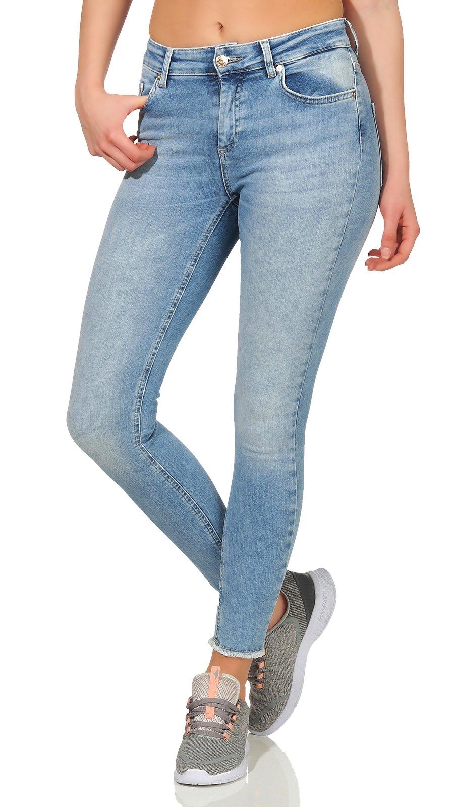 c823396e5d Only Damen Ankle Jeans Blush Mid light blue denim skinny