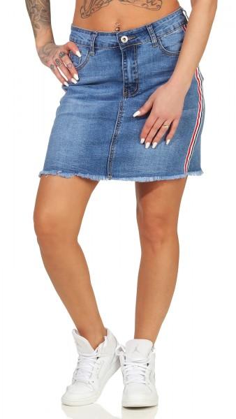 Hailys Damen Jeans Rock Joana blue
