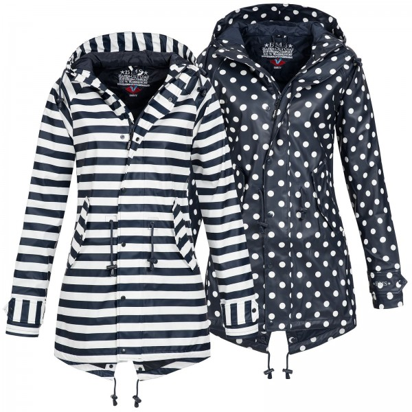 BMS Damen Regenjacke Hafencity Coat Softskin