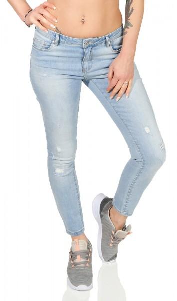 Only Damen Ankle Jeans Carmen light blue skinny