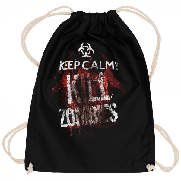 Top Fuel Fashion Rucksackbeutel Keep Calm and Kill Zombies
