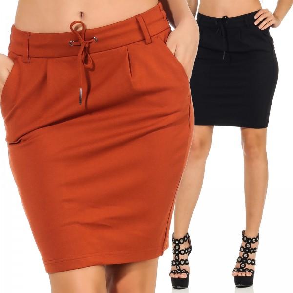 822491b0077c Only Damen Stoff Rock Poptrash Knee Skirt